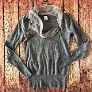 J. Crew Grey Merino Wool Sweater XXS